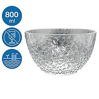 Пиала салатник акрил Айс небьющаяся многоразовая посуда для бассейна яхты кейтеринга стеклопластик 800 мл