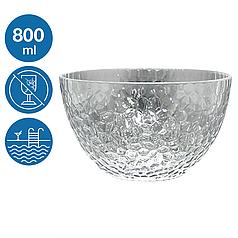 Піала салатник акрил Айс небиткий багаторазовий посуд для басейну яхти кейтерингу склопластик 800 мл