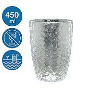 Стакан для пива акрил Айс небьющаяся многоразовая посуда для бассейна яхты кейтеринга стеклопластик 450 мл