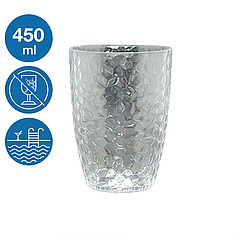 Келих для пива акриловий Айс небиткий багаторазовий посуд для басейну яхти кейтерингу склопластик 450 мл