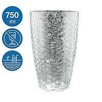 Стакан для напитков акрил Айс небьющаяся многоразовая посуда для бассейна яхты кейтеринга стеклопластик 750мл