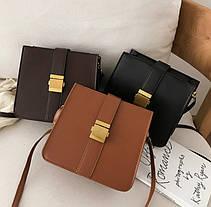 Модная сумка почтальон на ремешке, фото 3