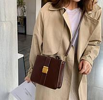 Модная сумка почтальон на ремешке, фото 2