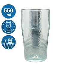 Келих пивний Жадор акриловий небиткий багаторазовий посуд для басейну яхти кейтерингу склопластик 550 мл