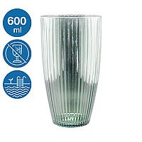 Стакан коктейльный акрил Жадор небьющаяся многоразовая посуда для бассейна яхты кейтеринга стеклопластик 600мл