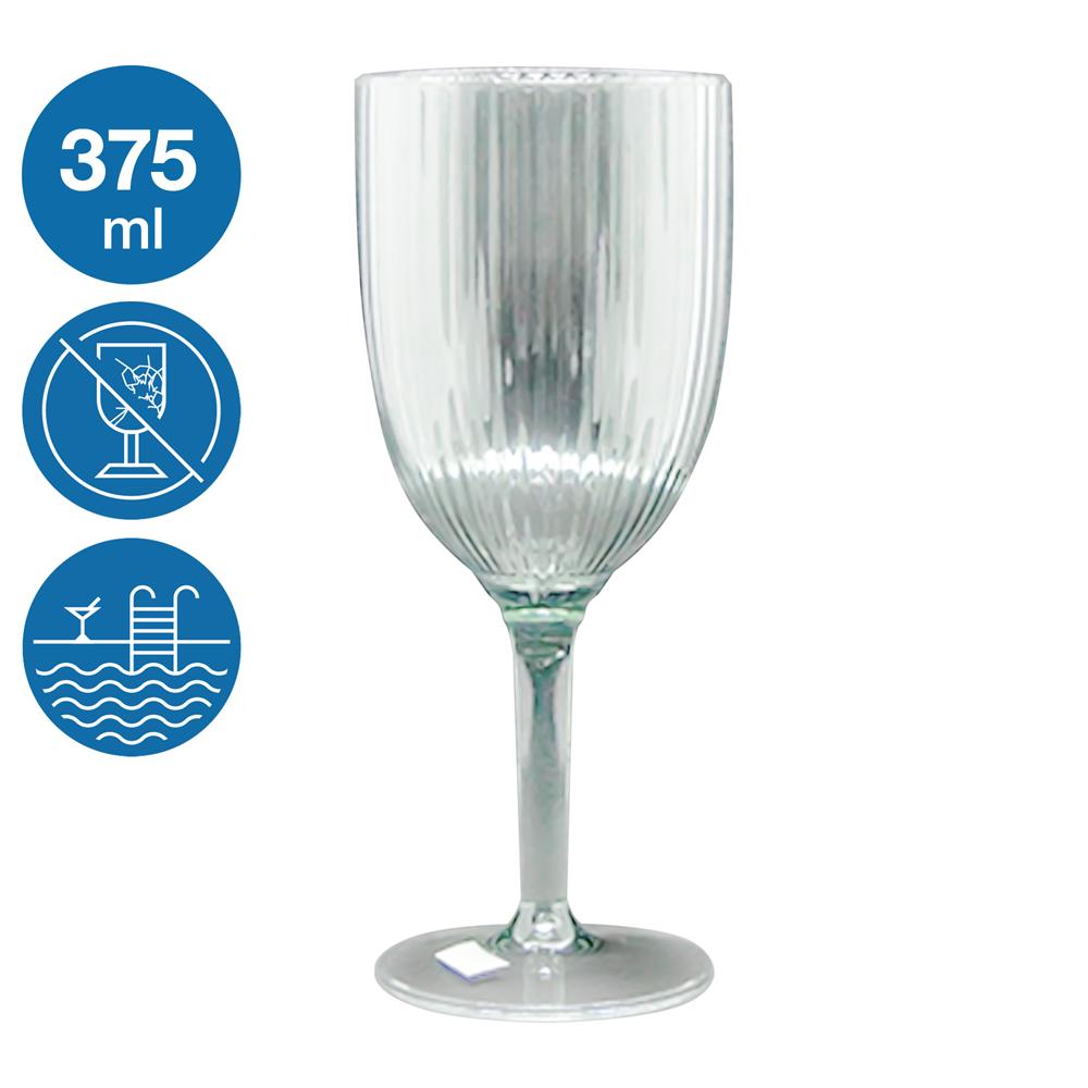 Бокал для вина акрил Жадор небьющаяся многоразовая посуда для бассейна яхты кейтеринга стеклопластик 375 мл