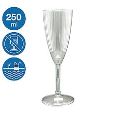 Келих для шампанського Жадор акриловий небиткий багаторазовий посуд для басейну яхти кейтерингу 250 мл