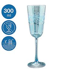 Келих для шампанського Синє море акриловий небиткий багаторазовий посуд для басейну яхти кейтерингу 300 мл