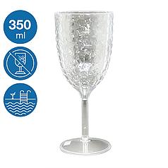 Келих для вина акрил Айс небиткий багаторазовий посуд для басейну яхти кейтерингу склопластик 350 мл