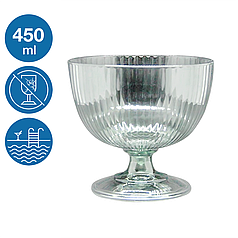 Креманка акрилова Жадор небиткий багаторазовий посуд для басейну яхти кейтерингу склопластик 450 мл
