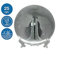 Тарелка акриловая Жадор небьющаяся многоразовая посуда для бассейна яхты кейтеринга стеклопластик 25 см