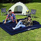✅Надувной матрас Pavillo Bestway 67374, 152 х 203 х 22 см, с насосом, подушками. Двухместный, фото 2
