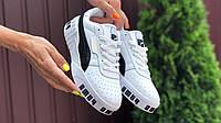 Женские кроссовки Puma Cali Bold белые кожаные Пума Кали Болд, реплика