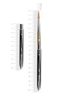 Кисть ROSA Мікс соболь/синтетика круглий, TRAVEL BRUSH, LAKE 178, № 6, коротка ручка