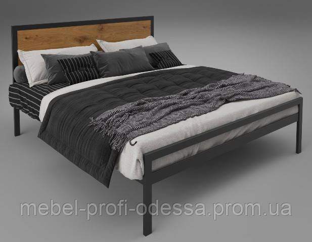 Герар 1600х2000 Металлическая двуспальная Кровать фабрика Тенеро (Tenero) в Одессе