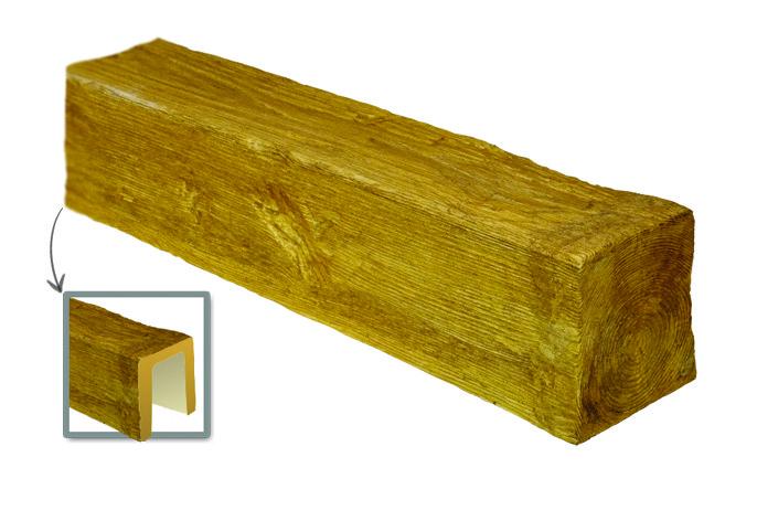 Балка Модерн ED 104 (2м) classic светлая 17х19. DecoWood