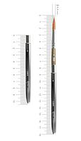 Кисть ROSA Мікс соболь/синтетика круглий, TRAVEL BRUSH, LAKE 178, № 8, коротка ручка