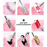 Набор кистей для дизайна и наращивания ногтей, маникюра. Кисточки маникюрные 15 шт в упаковке, фото 5