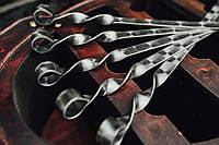 """Шампур плоский для Люля - кебаб 560*3*20 мм.полированный """"чешуя"""" Набор - 6 шт.в колчане"""