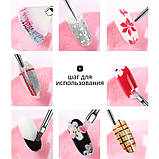 Набор кистей для дизайна и наращивания ногтей, маникюра. Кисточки маникюрные 15 шт в упаковке Черный, фото 2