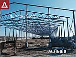 Ангар Двускатный 24х24 навес, фермы, склад, сто, помещение, каркас, фото 8