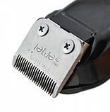 Машинка для стрижки волос 8 насадок профессиональная Gemei GM 1016 чёрный, фото 3