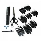 Машинка для стрижки волос 8 насадок профессиональная Gemei GM 1016 чёрный, фото 6