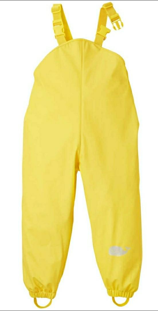 Прорезиненные штаны-комбинезон неутепленные желтые Kuniboo (Германия) р.122/128см