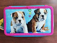 Пенал Class Lovely Puppies 3 відділення, 20*13*4.5 арт. 98703
