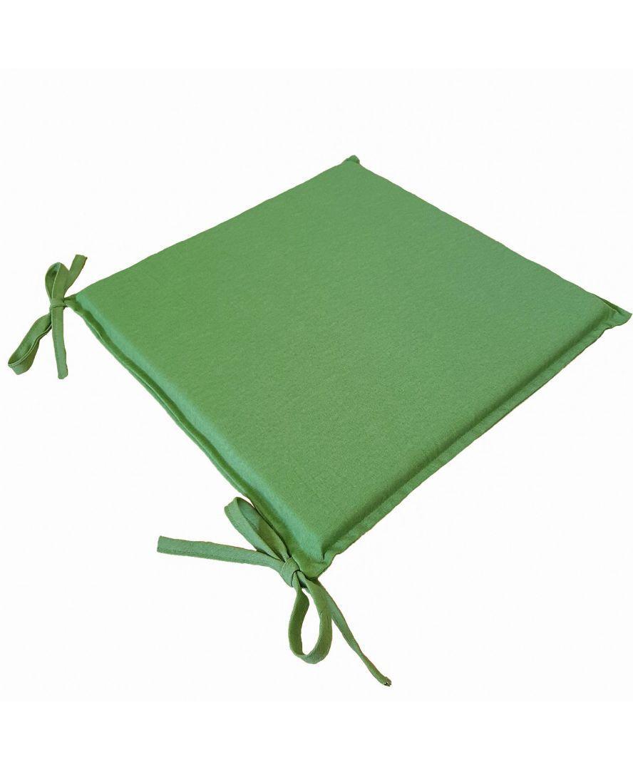 Подушка на стул табурет Элит Зеленый