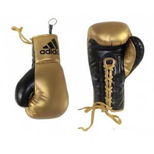 Сувенирные боксерские перчатки Adidas (черно-золотые, ADIBGG02)