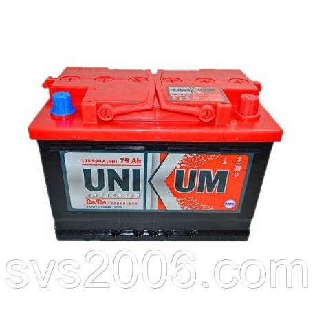 АКБ 6СТ-75 R+ (пт 590) UNIKUM