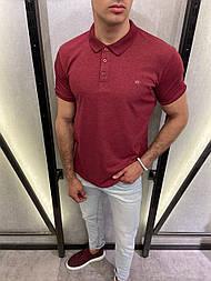 😜 Футболка - Мужская футболка поло (бордовая)