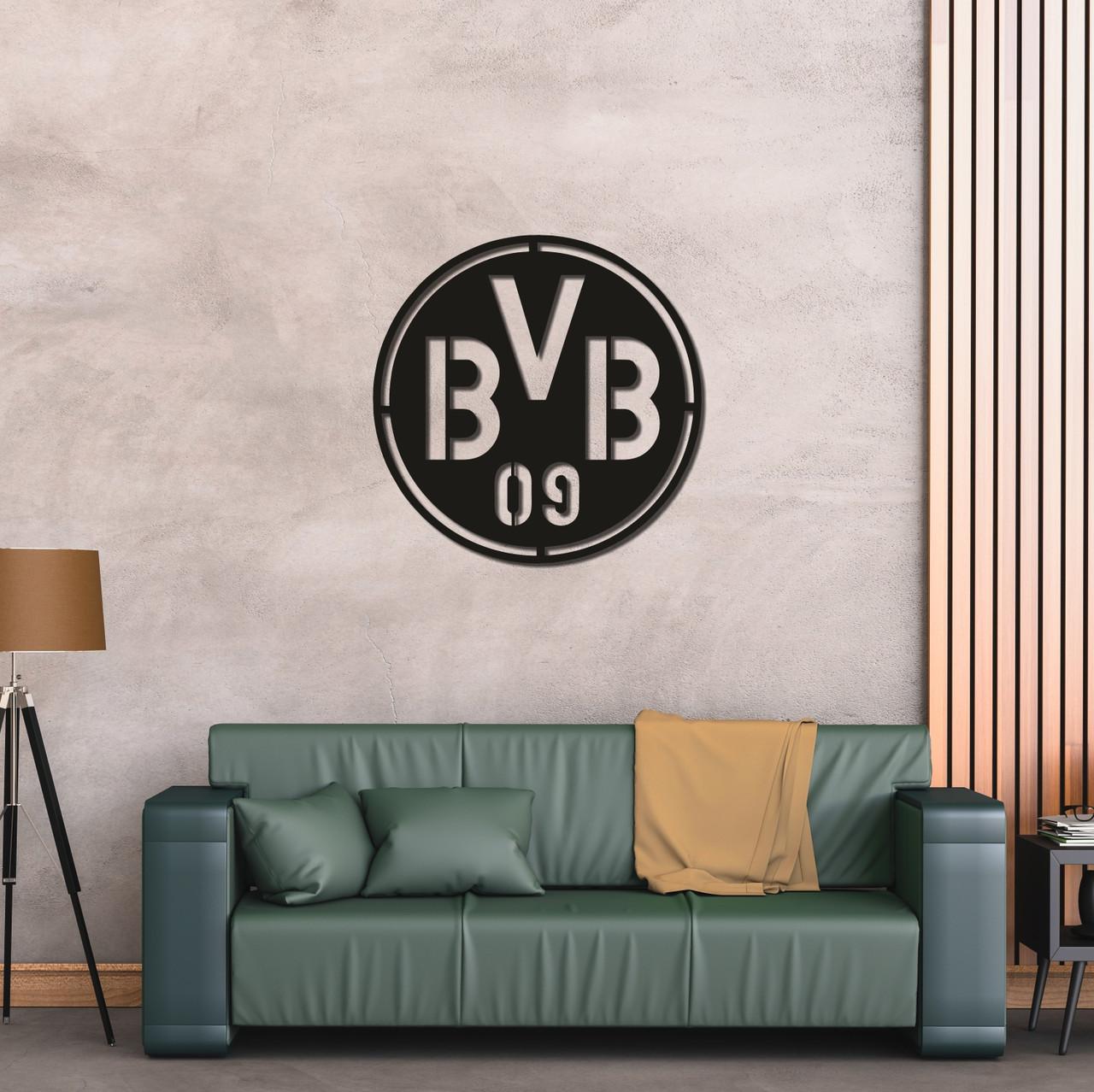 Деревянный настенный логотип ФК «Боруссия Дортмунд»