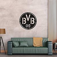 Деревянный настенный логотип ФК «Боруссия Дортмунд», фото 1