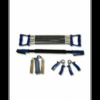 Набор эспандеров с эспандер кистевой, плечевой 5 пружин, скакалка, эспандер-палка. 4081