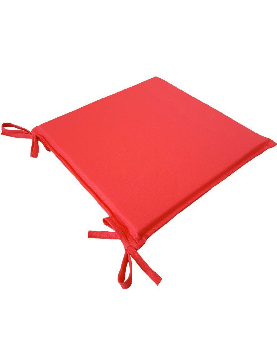 Подушка на стілець табурет Еліт Червоний