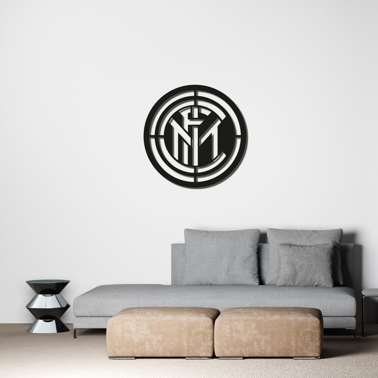 Интерьерная картина из дерева с эмблемой ФK «Интер»