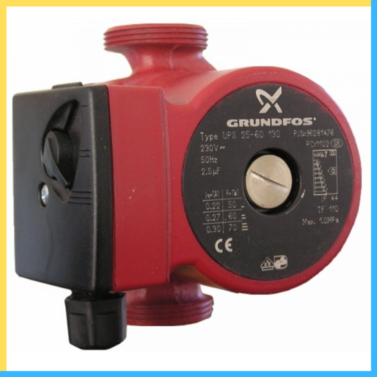 Циркуляционные насосы Grundfos UPS 25/6 130 короткая база