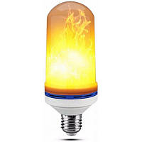 Лампа светодиодная LED с эффектом огня языки пламени разгорается и затухает 3 режима E27 Flame Bulb А+