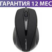 Компьютерная мышь Esperanza EM102K черная, оптическая, USB, 1 Wheel, 1000dpi, проводная мышка