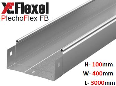 Лоток цельнометаллический, оцинкованный 400x100x3000x0,9 мм Plechoflex FB