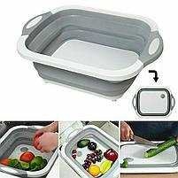 Доска разделочная 4 в 1, складная разделочная доска, доска корзинка, доска для кухни, миска доска, фото 2