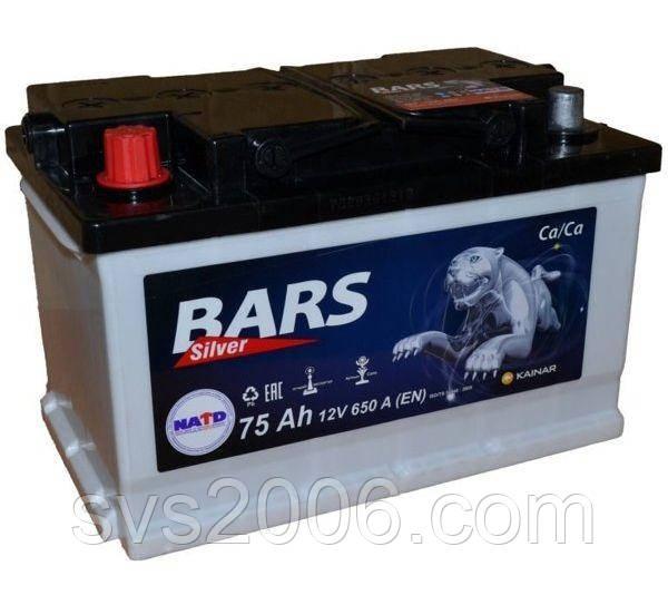 АКБ 6СТ-75 L+ (пт 640)(не обслугов) (азія) BARS