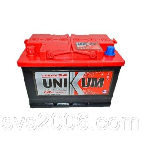 АКБ 6СТ-75 L+ (пт 590) UNIKUM