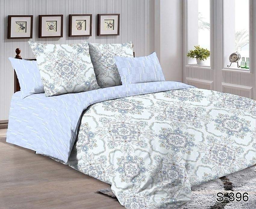 Полуторный комплект постельного белья сатин люкс с компаньоном S396