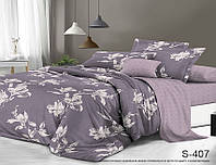 Полуторный комплект постельного белья сатин люкс с компаньоном S407