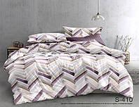 Двуспальный комплект постельного белья сатин люкс с компаньоном S410