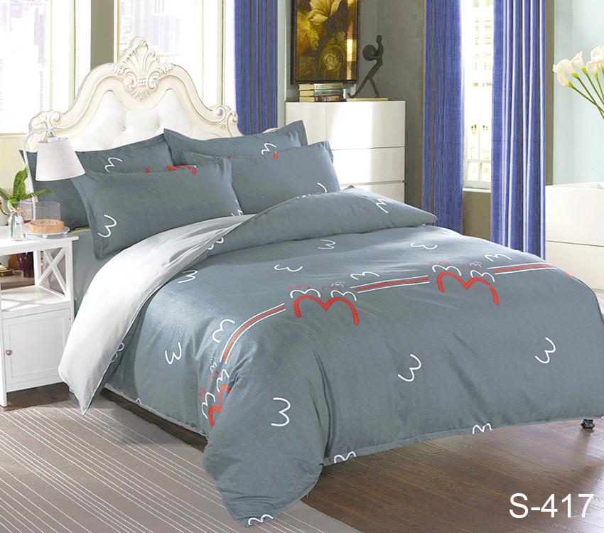 Двуспальный комплект постельного белья сатин люкс с компаньоном S417