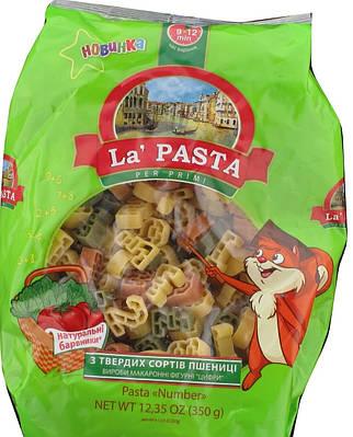 Цифры макароны La Pasta с твёрдых сортов 350 грамм